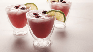 Mock Cranberry-Lime Spritzer