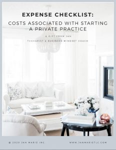 The REAL cost of starting a private practice